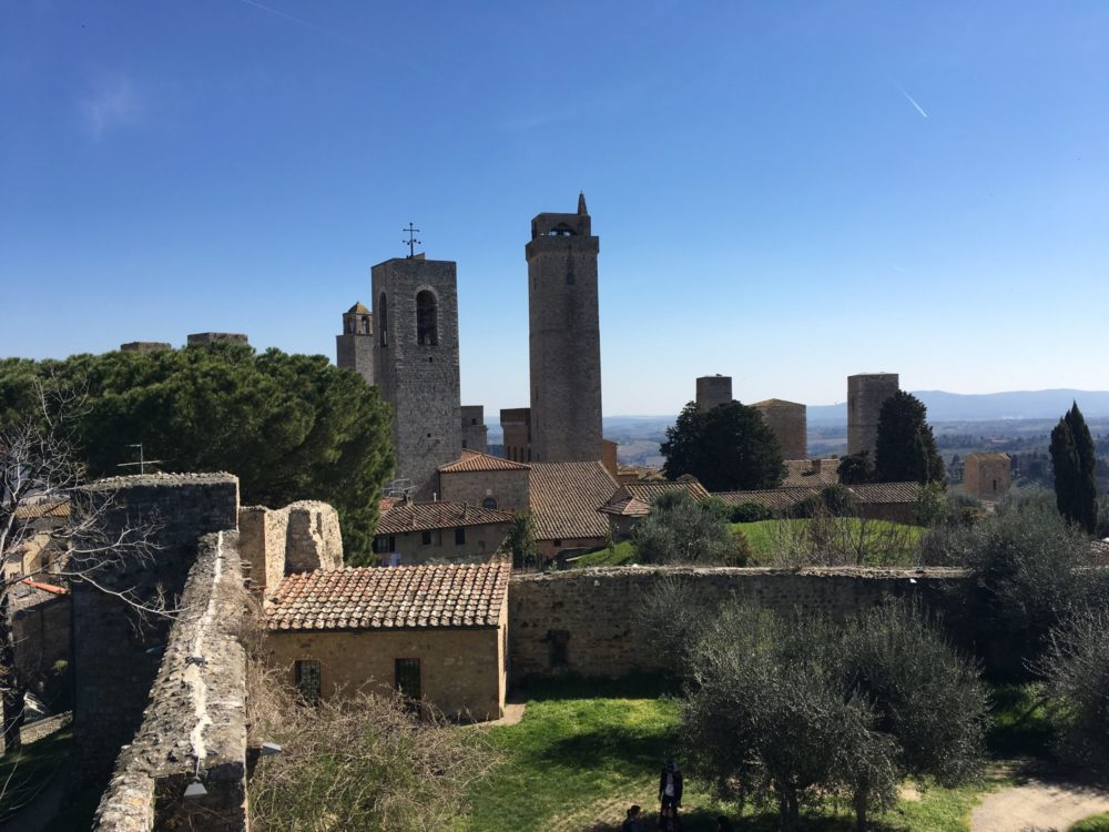 Toscane Village typique San Gimignano
